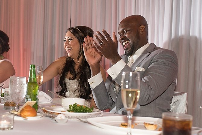 Couple at top table | Summer Wedding in Chicago | Lisa Kay Photograpy