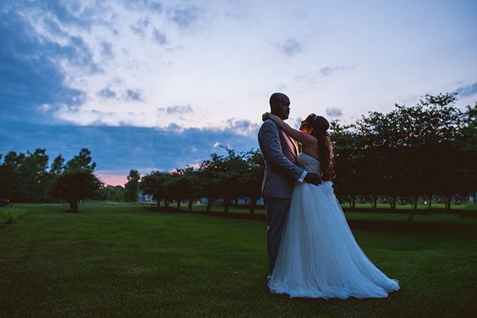 Wedding sunset in Chicago | Summer Wedding in Chicago | Lisa Kay Photograpy