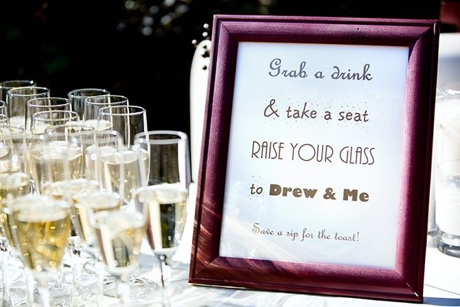 Wedding drinks sign | Unique Wedding in Georgia | TSE Gallery Photography