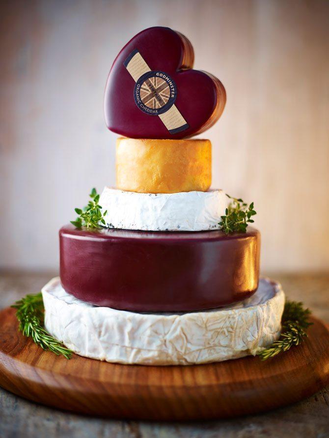 Small Wedding Cheese Cake - Godminster Cheese