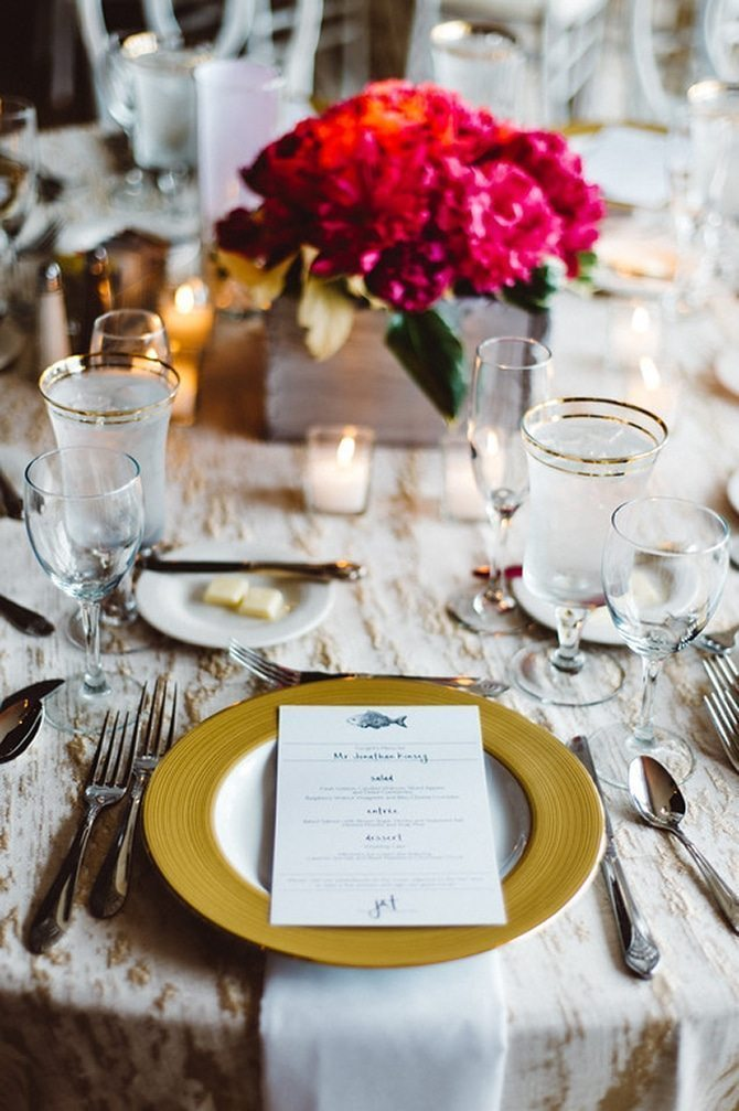 Wedding placemat | Nautical Wedding in Ohio | Aster & Olive Photography