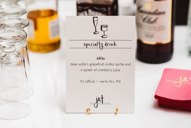 Wedding drink menu | Nautical Wedding in Ohio | Aster & Olive Photography