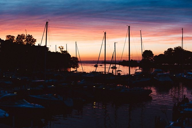 Sunset in Ohio | Nautical Wedding in Ohio | Aster & Olive Photography