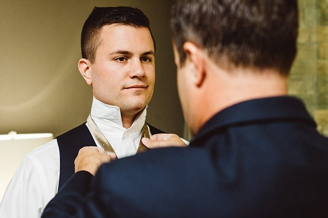Groom before the wedding | Nautical Wedding in Ohio | Aster & Olive Photography