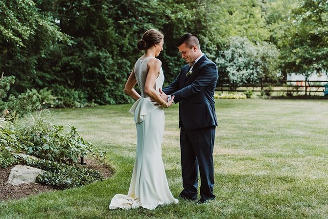 Bride and Groom together | Nautical Wedding in Ohio | Aster & Olive Photography