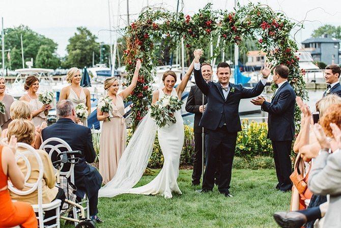 Wedding ceremony | Nautical Wedding in Ohio | Aster & Olive Photography