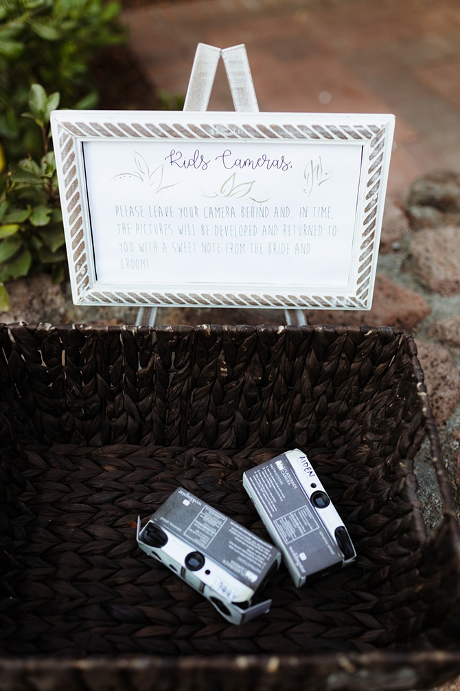 Disposable Cameras at Wedding | Rustic Wedding in Mountain View | Emily Jean Images