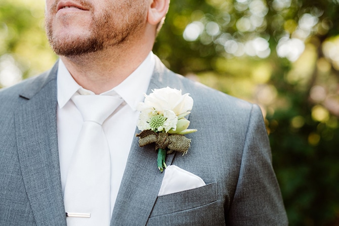 Floral button holes | Rustic Wedding in Mountain View | Emily Jean Images