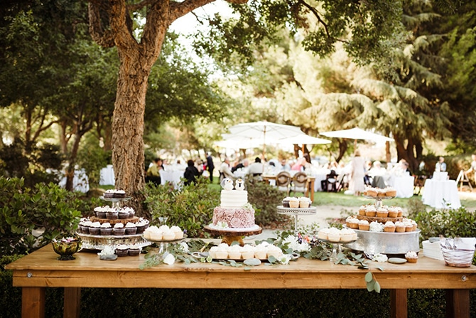 Rustic dessert table | Rustic Wedding in Mountain View | Emily Jean Images