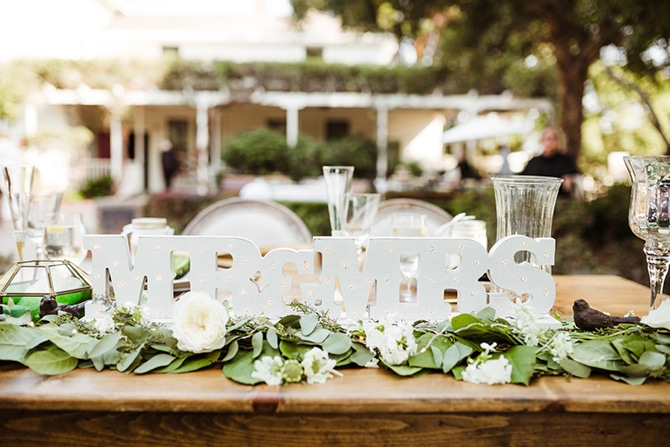 Mr and Mrs Sign | Rustic Wedding in Mountain View | Emily Jean Images