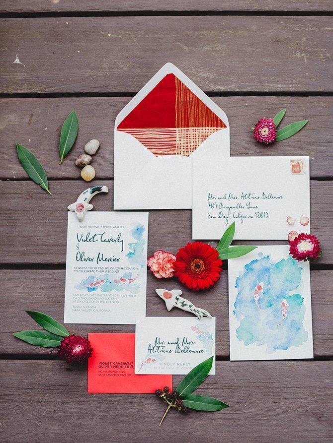 Koi Art Style Invitation | Koi Art Style | Pearl Hsieh Photography