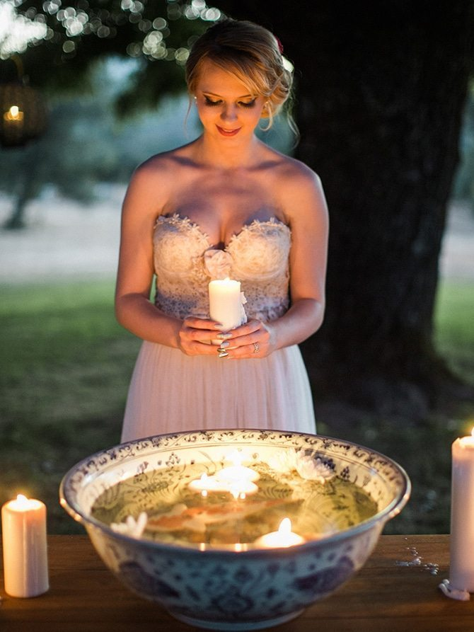 Bride with candles | Koi Art Style | Pearl Hsieh Photography