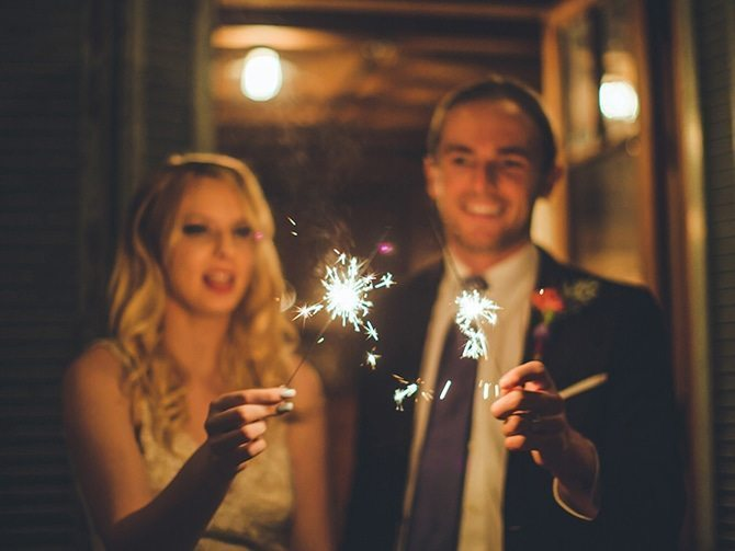 Wedding sparklers | Koi Art Style | Pearl Hsieh Photography
