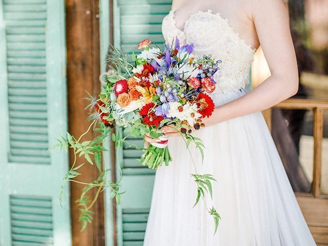 Rustic bridal bouquet | Koi Art Style | Pearl Hsieh Photography