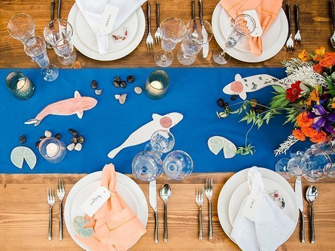 Koi Art wedding table | Koi Art Style | Pearl Hsieh Photography