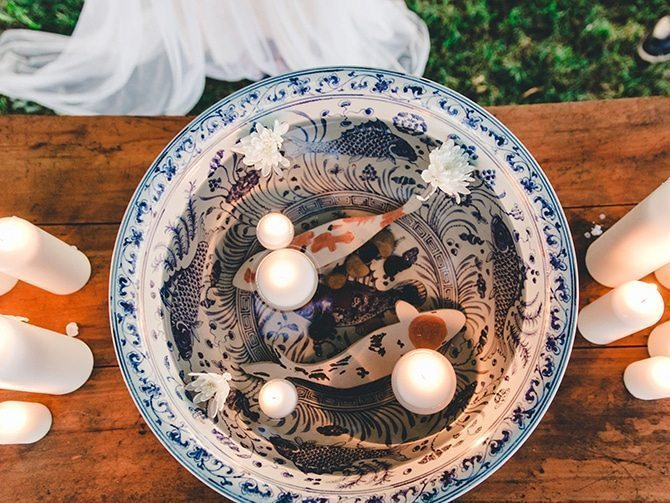 Floating candles | Koi Art Style | Pearl Hsieh Photography