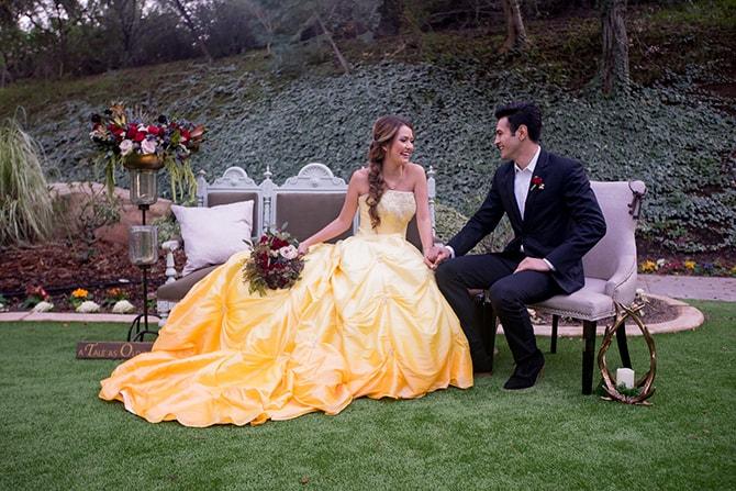 Disney wedding themeBeauty and the Beast Wedding | Raelyn Elizabeth Photography