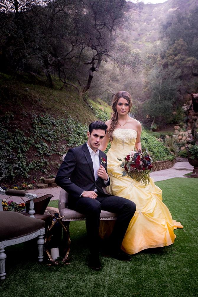 Beautiful coupleBeauty and the Beast Wedding | Raelyn Elizabeth Photography
