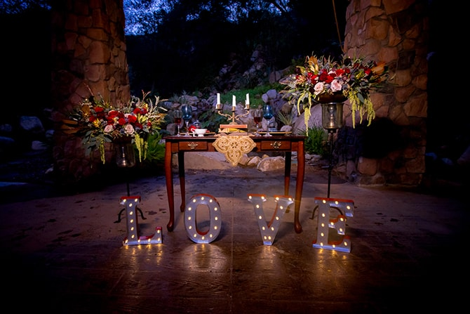 Wedding light up lettersBeauty and the Beast Wedding | Raelyn Elizabeth Photography