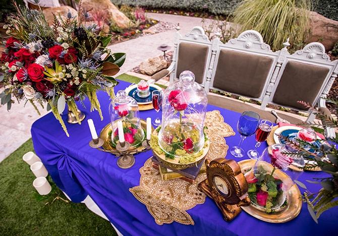 Blue wedding theme | Beauty and the Beast Wedding | Raelyn Elizabeth Photography