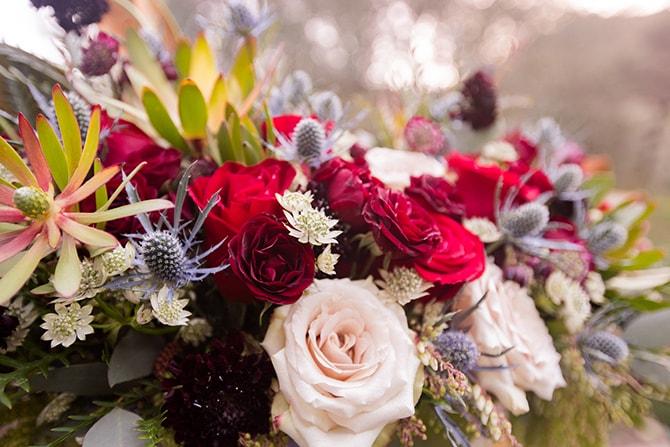 Wedding flowers | Beauty and the Beast Wedding | Raelyn Elizabeth Photography