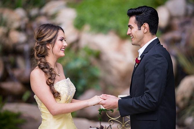 Wedding couple | Beauty and the Beast Wedding | Raelyn Elizabeth Photography