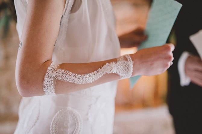 Lace Dress Arms | Greek Countryside Wedding | Andreas Markakis Photography