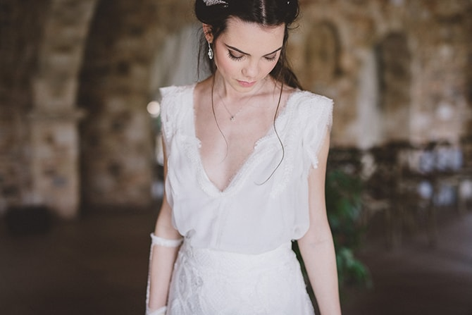 Bride in white dress | Greek Countryside Wedding | Andreas Markakis Photography