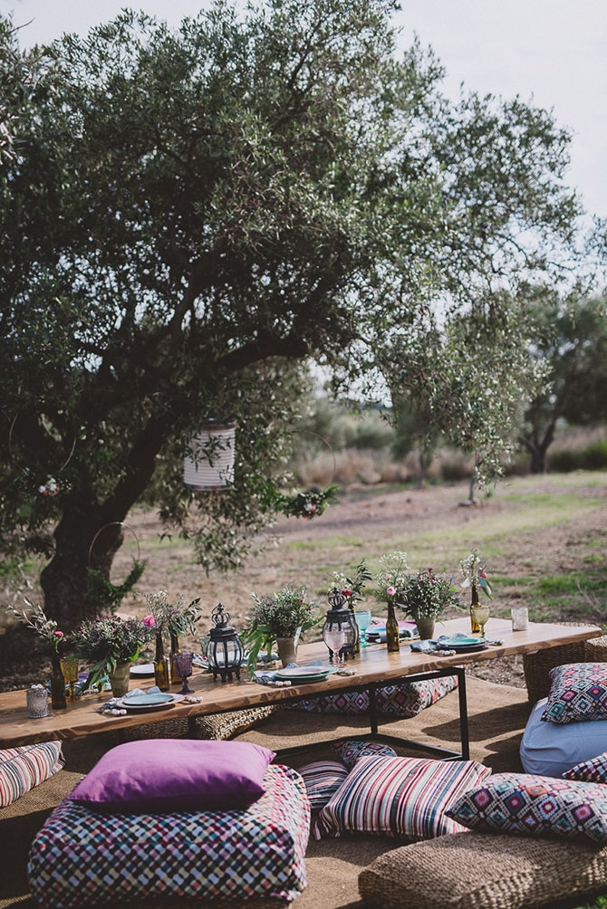 Outdoor wedding reception | Greek Countryside Wedding | Andreas Markakis Photography