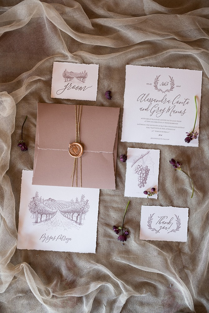 Hand drawn wedding stationery | Greek Countryside Wedding | Andreas Markakis Photography