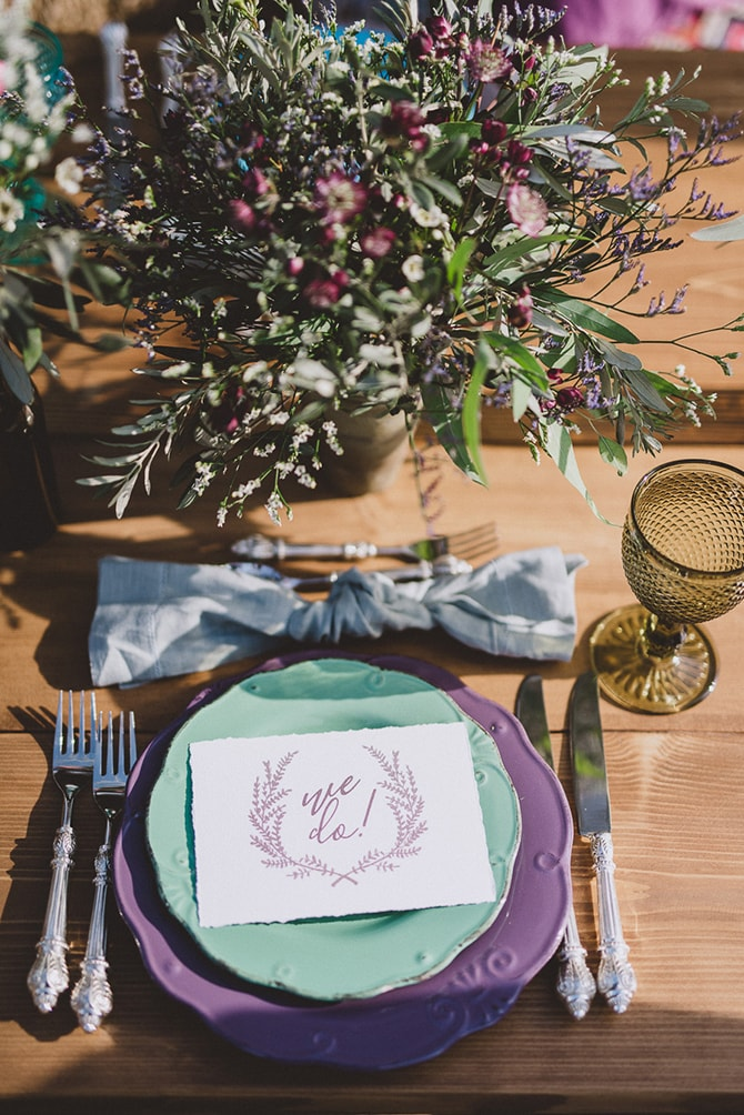 Wedding table plates | Greek Countryside Wedding | Andreas Markakis Photography