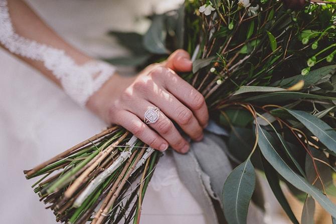 Wedding ring diamond | Greek Countryside Wedding | Andreas Markakis Photography