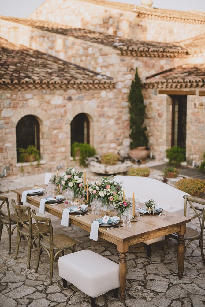 Greek Courtyard Wedding Reception | Greek Countryside Wedding | Andreas Markakis Photography