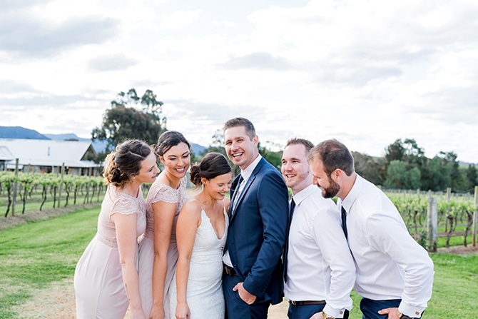 Wedding party | Olive Tree Vineyard Wedding Raquelle Loraine Photography