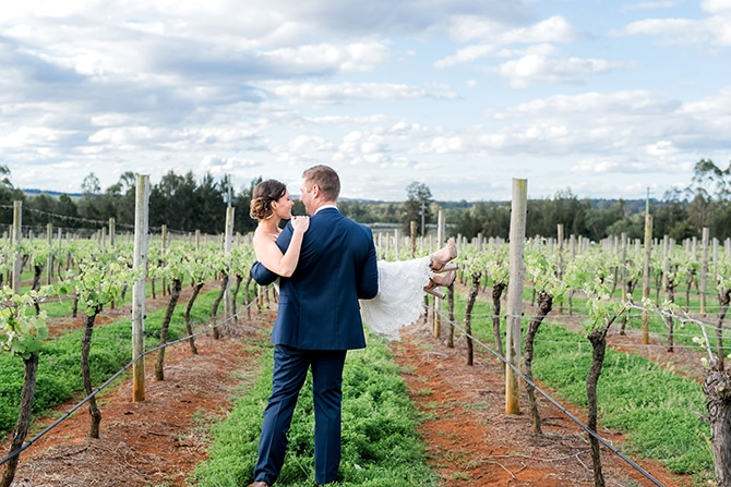Bride and Groom Vineyard Wedding | Olive Tree Vineyard Wedding Raquelle Loraine Photography