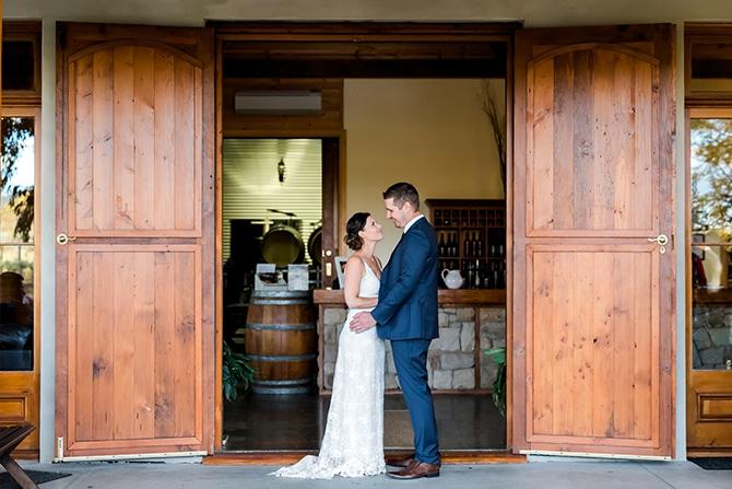Couple in vineyard | Olive Tree Vineyard Wedding Raquelle Loraine Photography