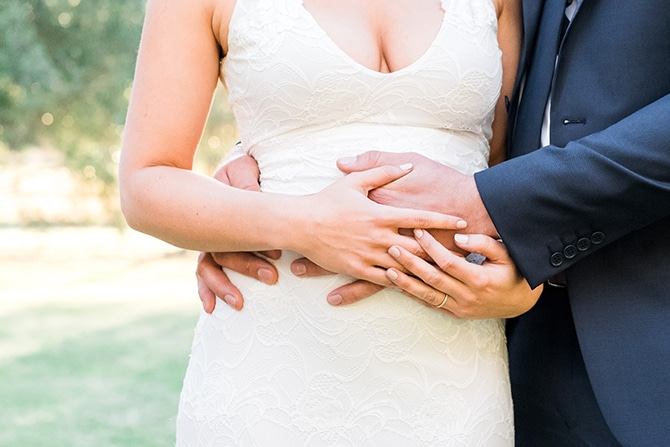 Pregnant Bride | Olive Tree Vineyard Wedding Raquelle Loraine Photography