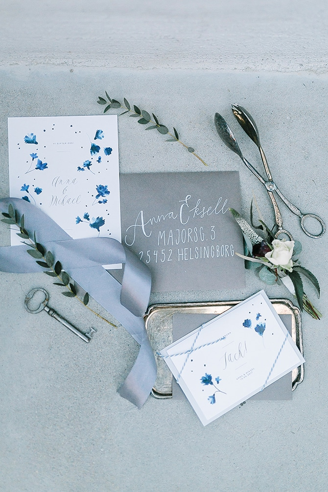 Pretty Paper Stationery | Swedish Winter Wedding Style Linda-Pauline Photo