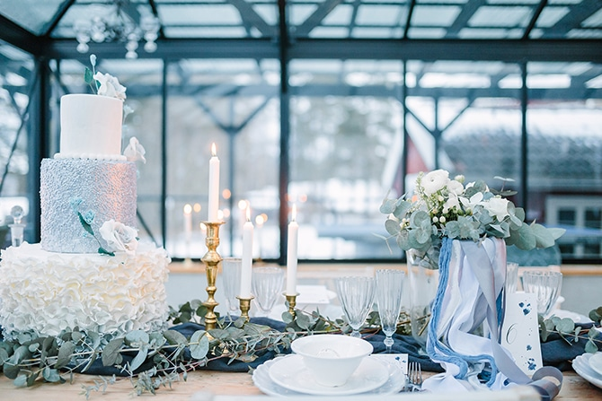 Wedding Table | Swedish Winter Wedding Style Linda-Pauline Photo