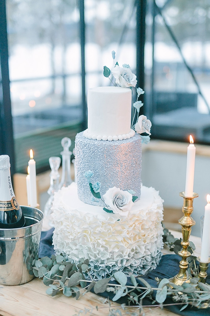 Sandra Ekilsson Cakes | Swedish Winter Wedding Style Linda-Pauline Photo
