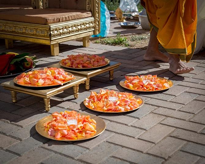 Orange wedding decor | Traditional Hindu Wedding | Third Eye Photography