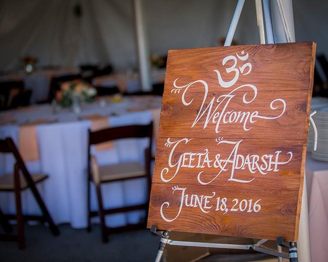 Wedding welcome sign | Traditional Hindu Wedding | Third Eye Photography