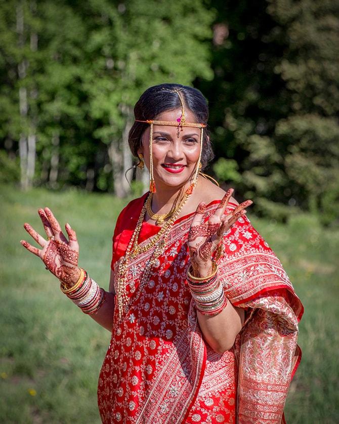 Bride before her wedding | Traditional Hindu Wedding | Third Eye Photography