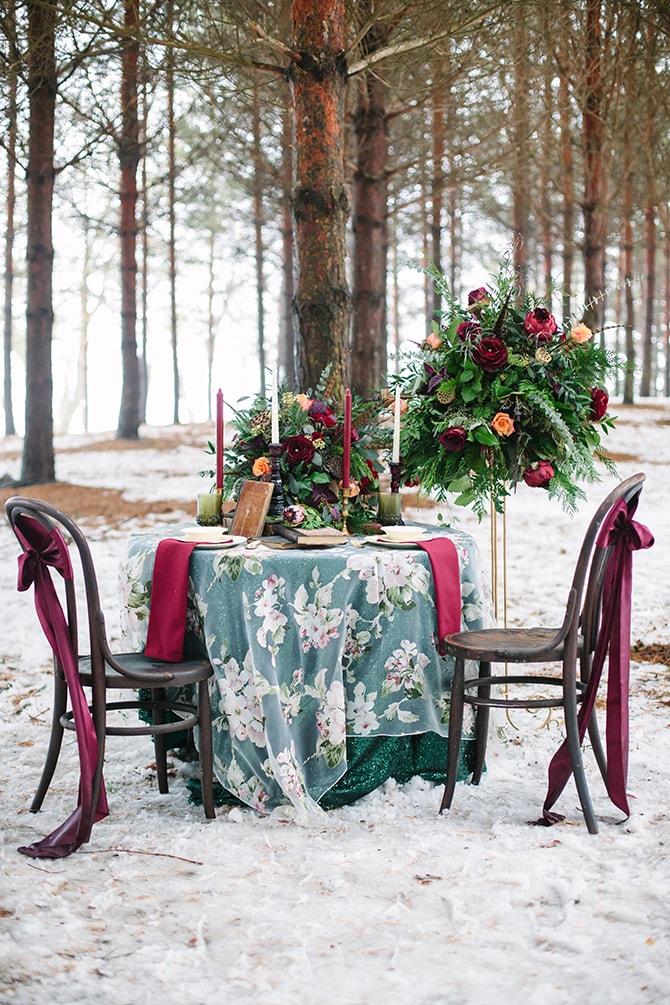 Christmas wedding theme | Winter Wedding in Minnesota Woodlands | B. Photography