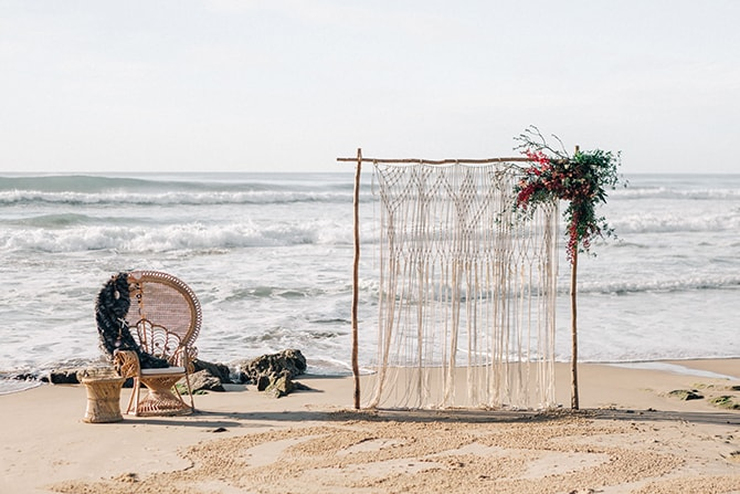 Beach wedding backdrop | Coastal Vagabond Inspiration | Shae Estella Photo