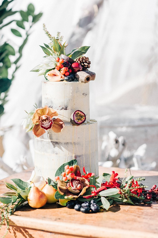 Rustic Wedding Cake | Coastal Vagabond Inspiration | Shae Estella Photo
