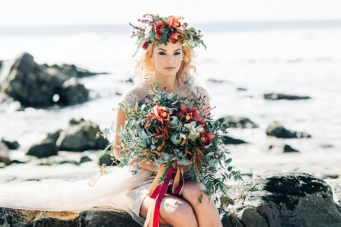 Boho bridal crown | Coastal Vagabond Inspiration | Shae Estella Photo