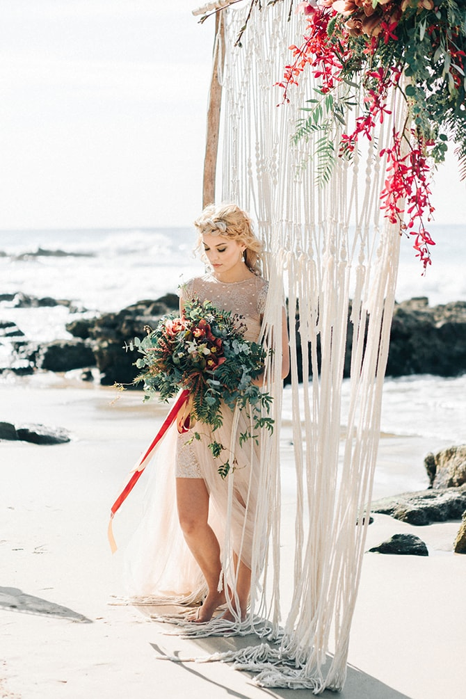 Bride on beachCoastal Vagabond Inspiration | Shae Estella Photo
