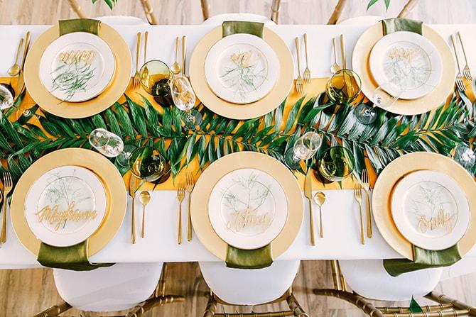 Fern table runner | Fern and Foliage Wedding Decor | Hawkeye Photography