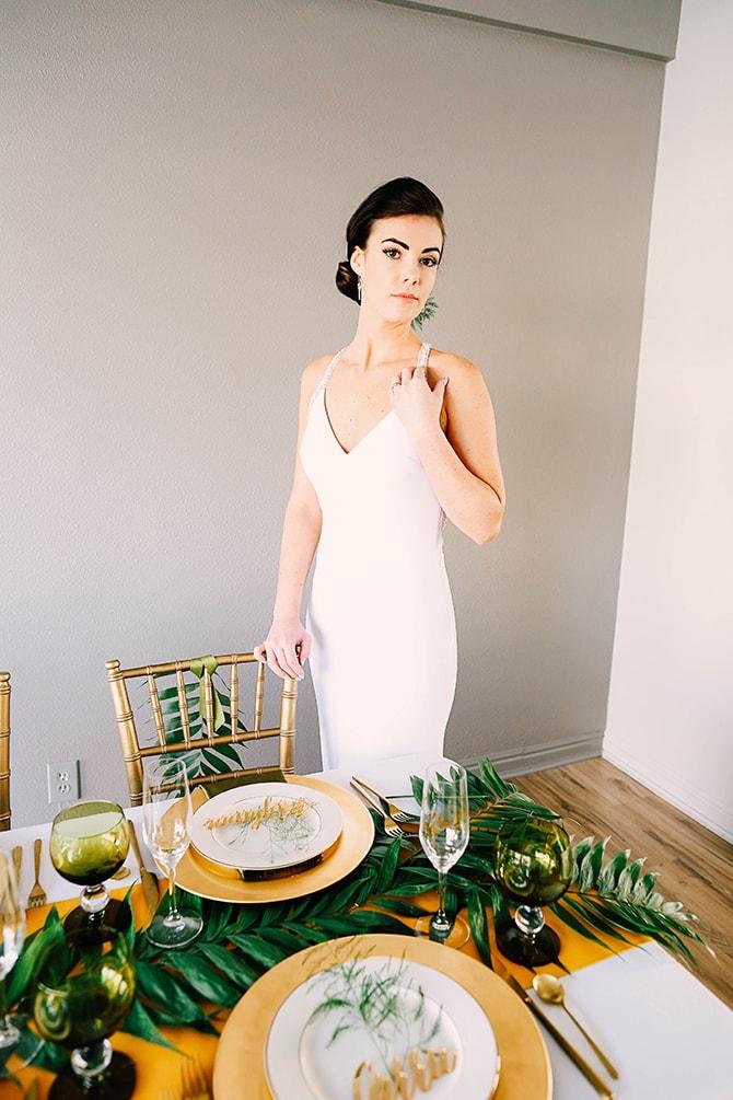 Mary's Bridal Wedding Dress | Fern and Foliage Wedding Decor | Hawkeye Photography
